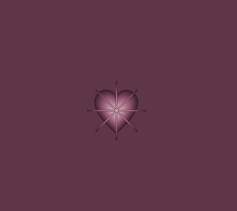 Purple Shape Heart