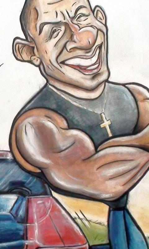 Vin Diesel Drawing