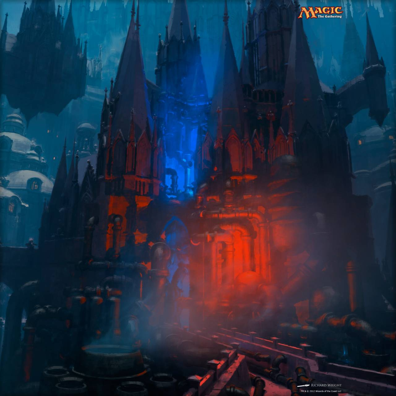 Blue Red Castle