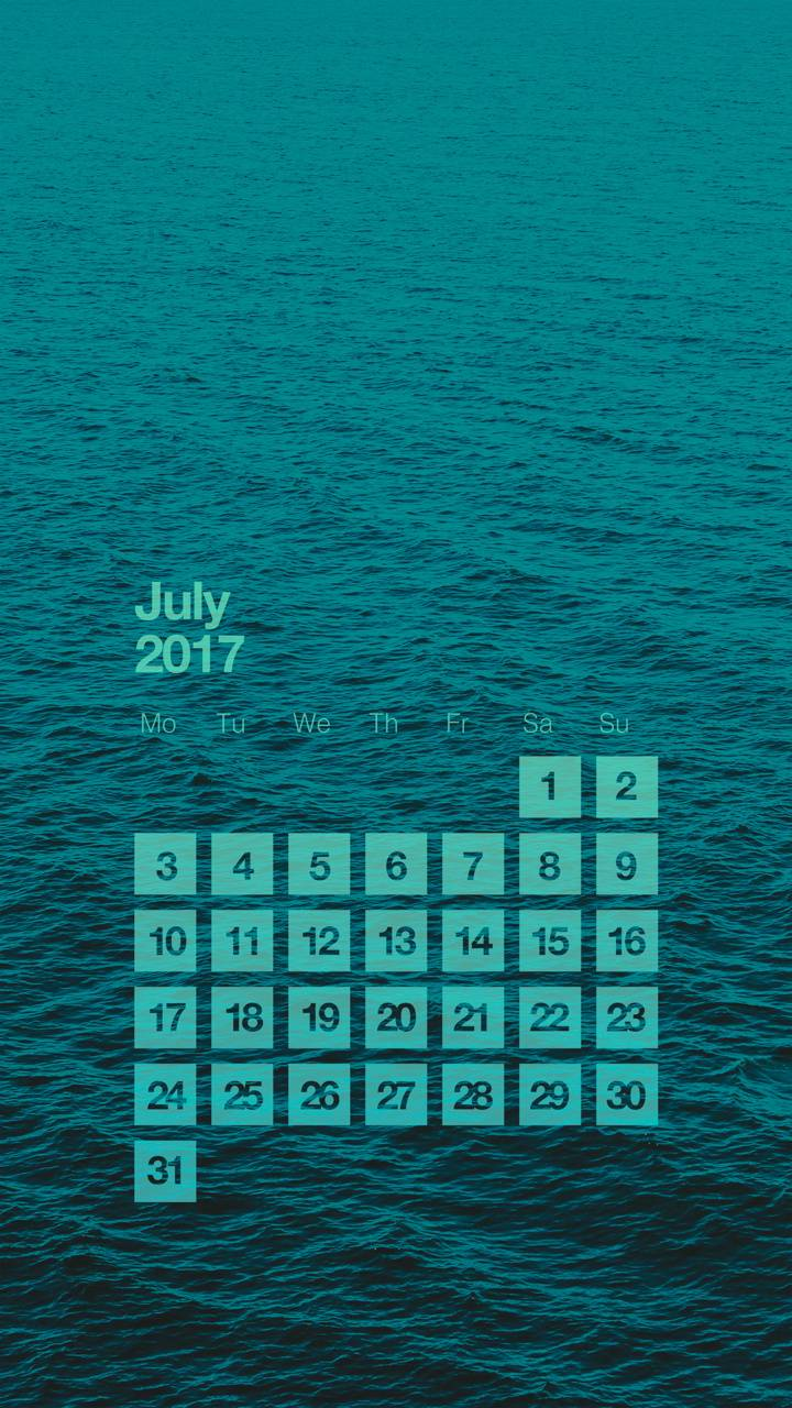 Sea Calendar July 17