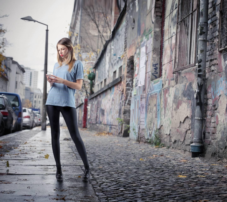 Girl City Sidewalk