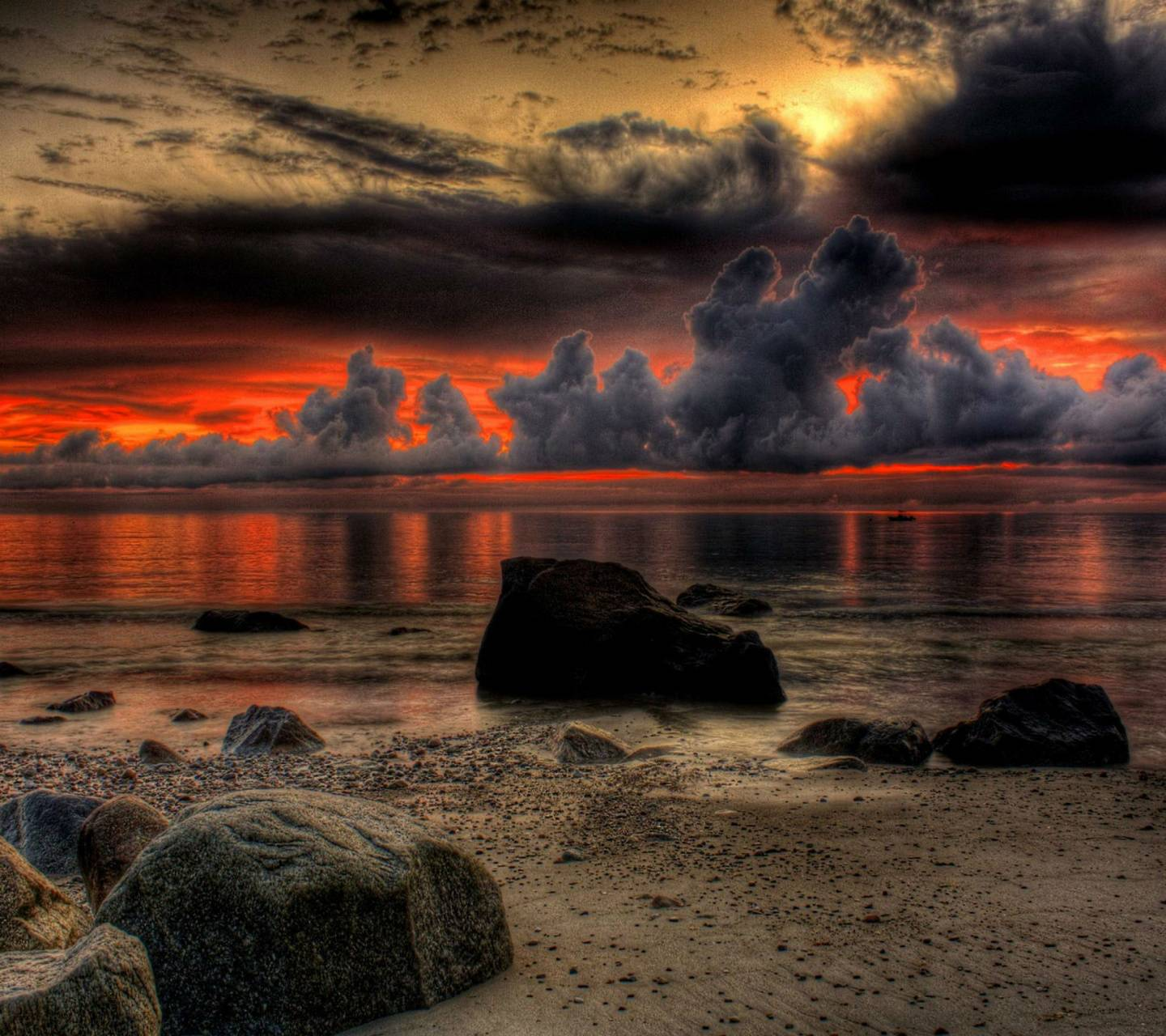 Red Sunset Hd Wallpaper By __LOV3ABL3__
