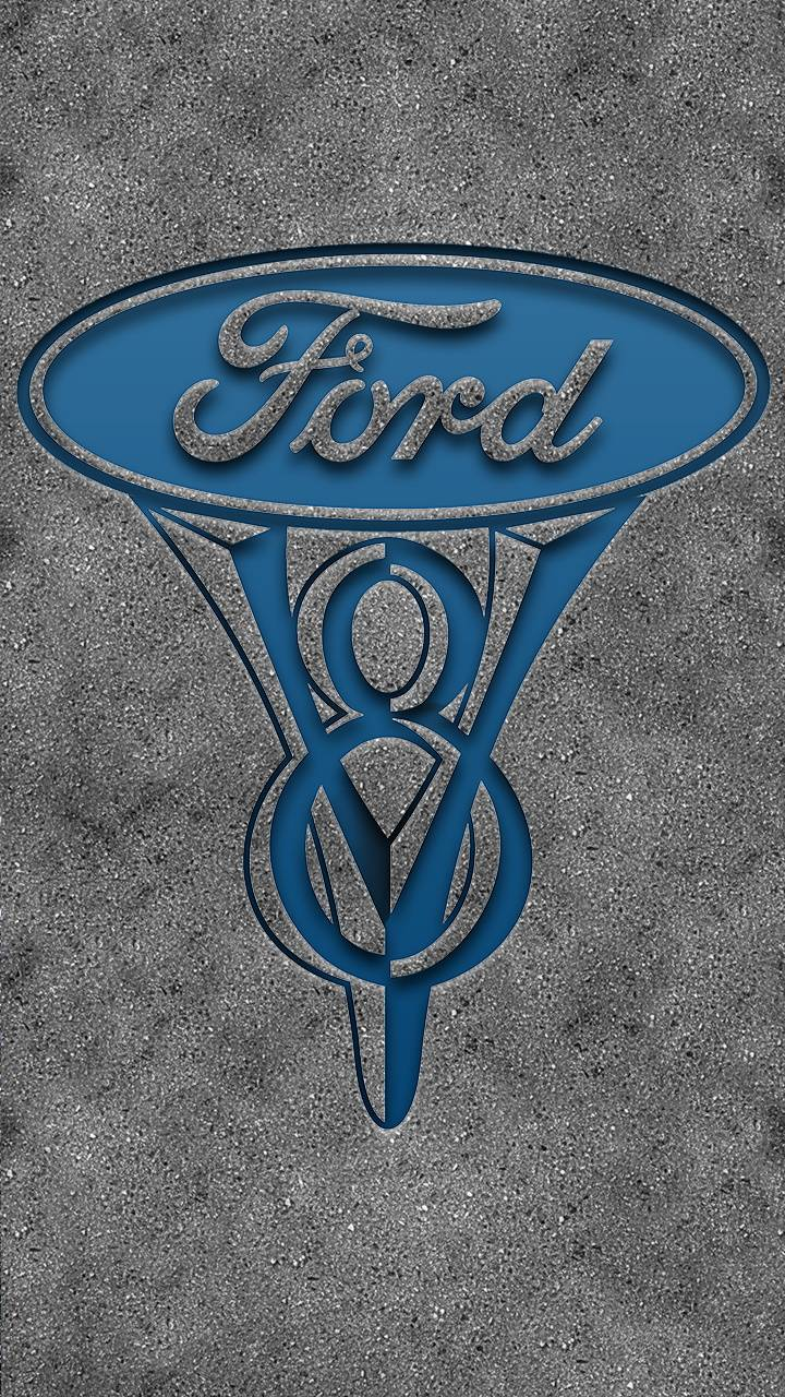 Vintage Ford V8 Logo wallpaper by Bgarza1026 - 3a - Free on ZEDGE™