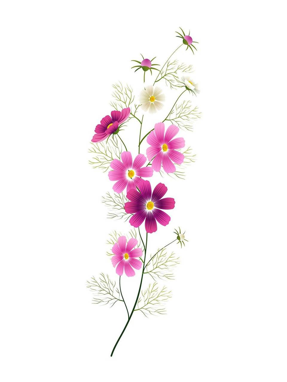 Art pink Flowers
