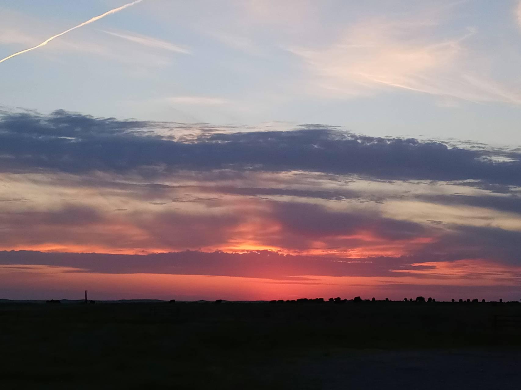 Sky orange sunset