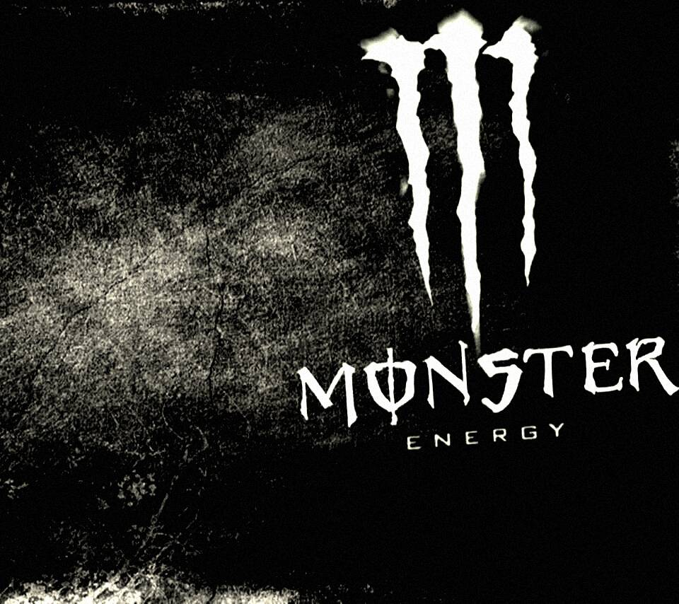 Monster Energy White Logo