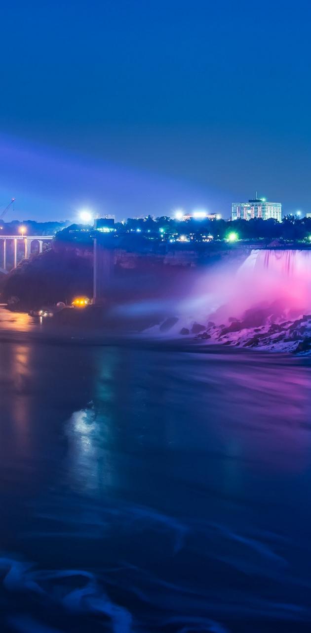 Waterfall Night