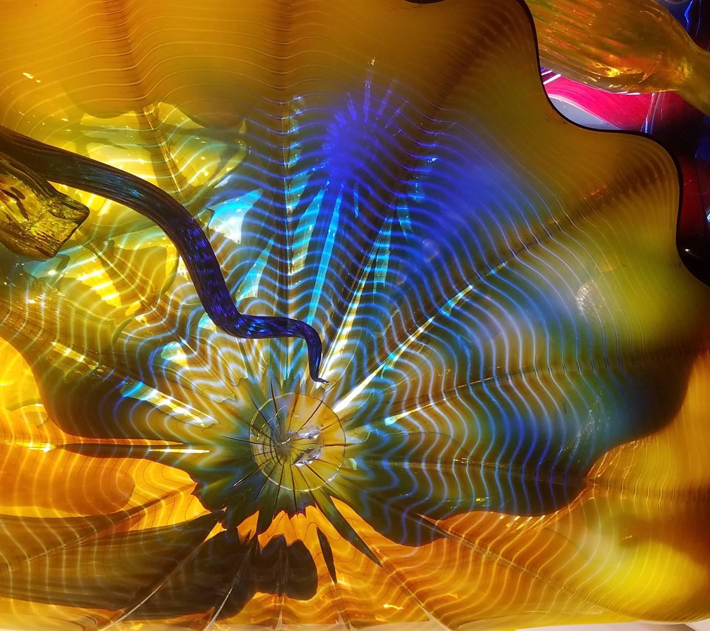 Yellow Glass Art