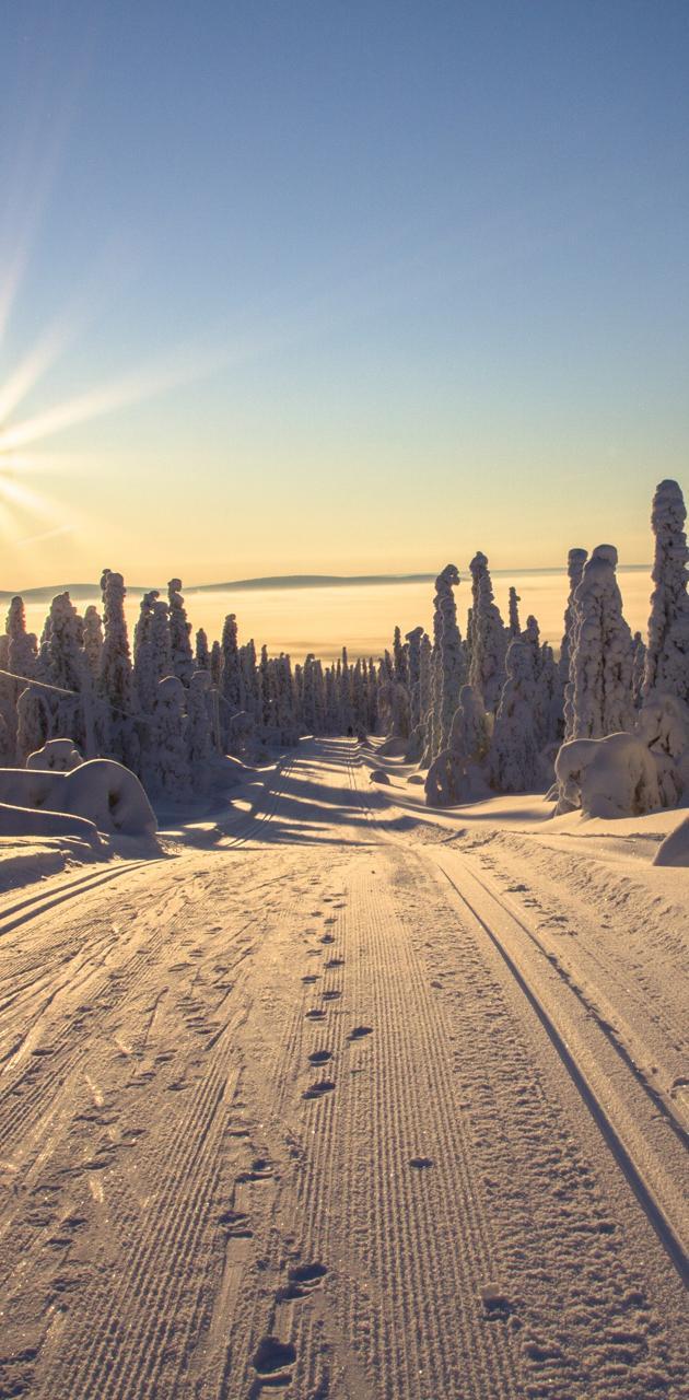 snow winter road