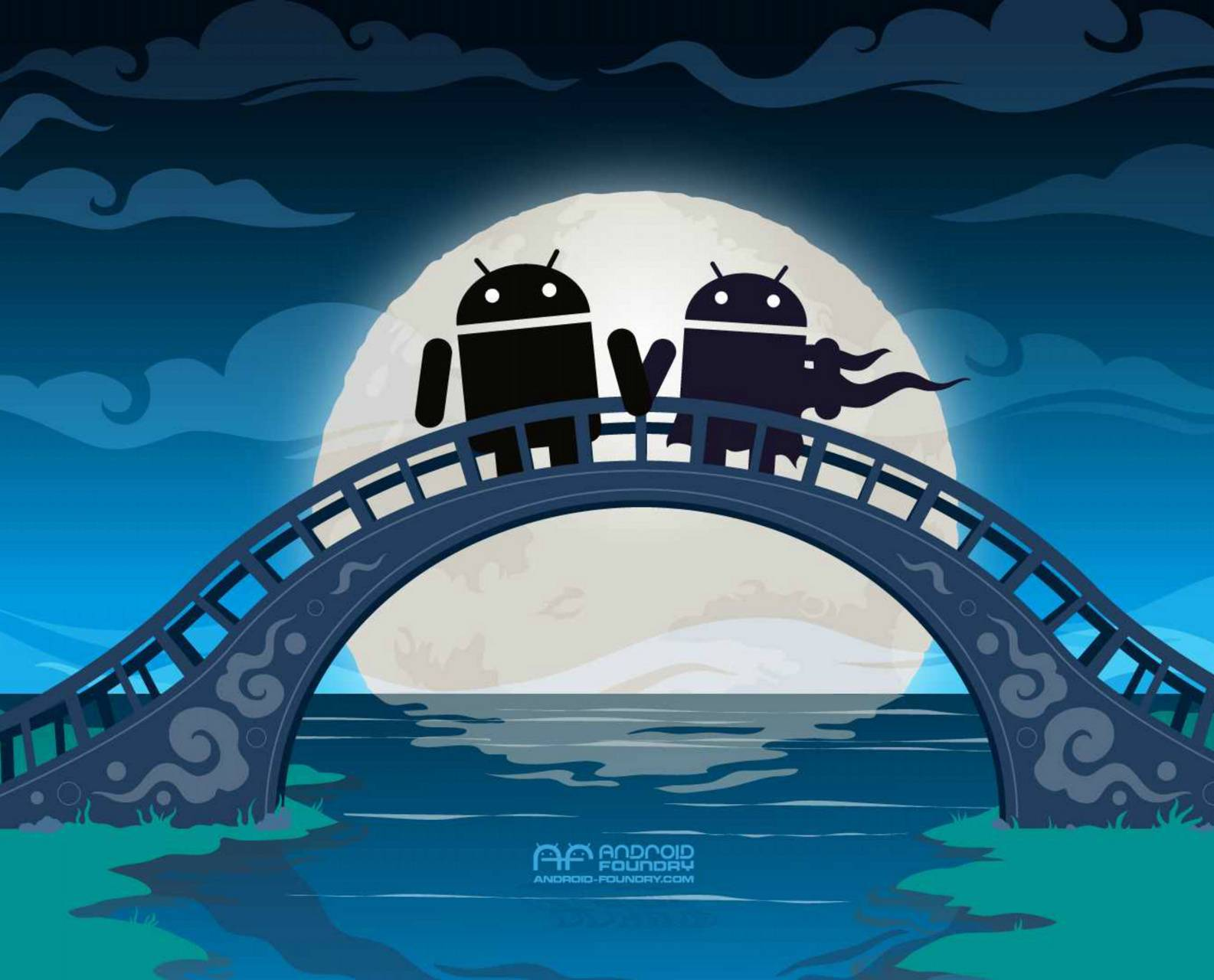 Androids on a Bridge