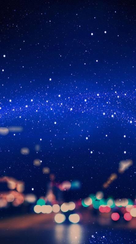 Star blue sky