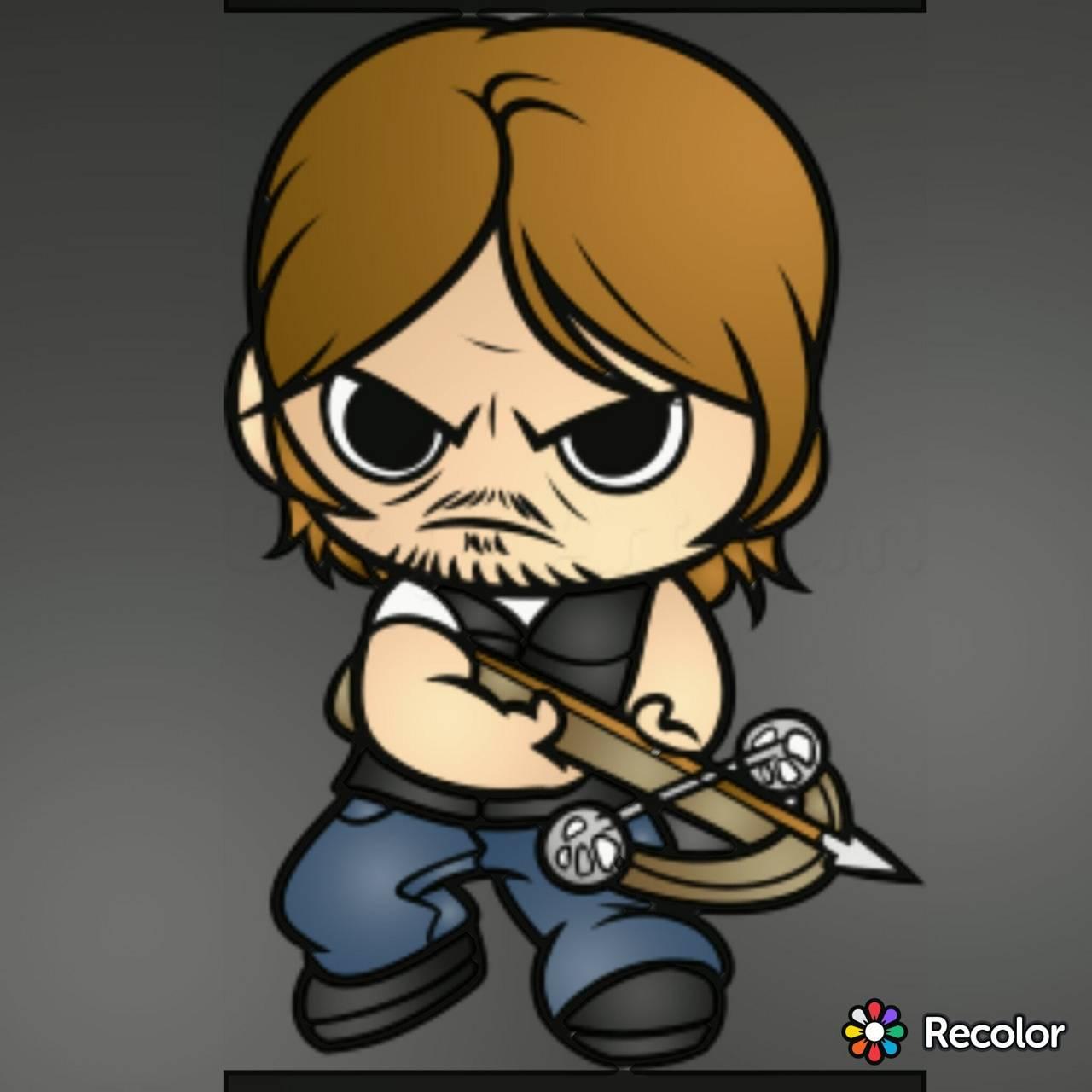 Daryl Dixon cartoon
