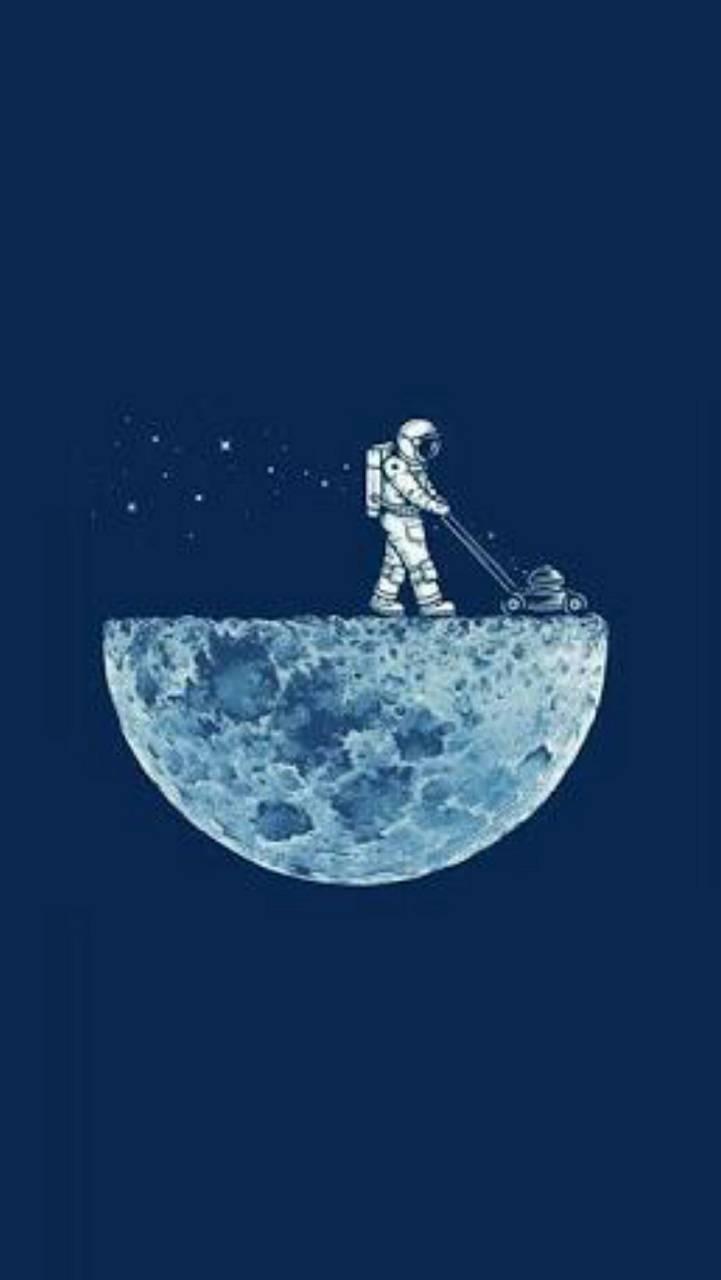 at the moon