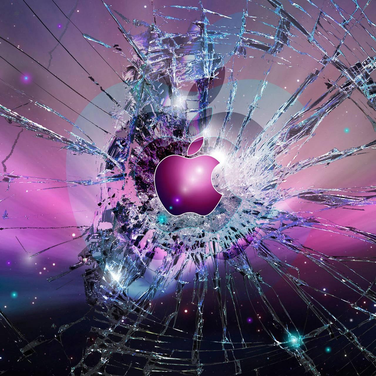 Broken Screen Wallpaper: Apple Broken Screen Wallpaper By Almost_Famous_