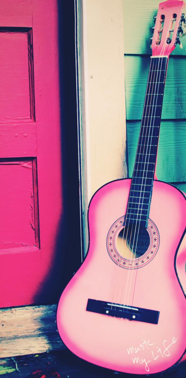 Guitar pink