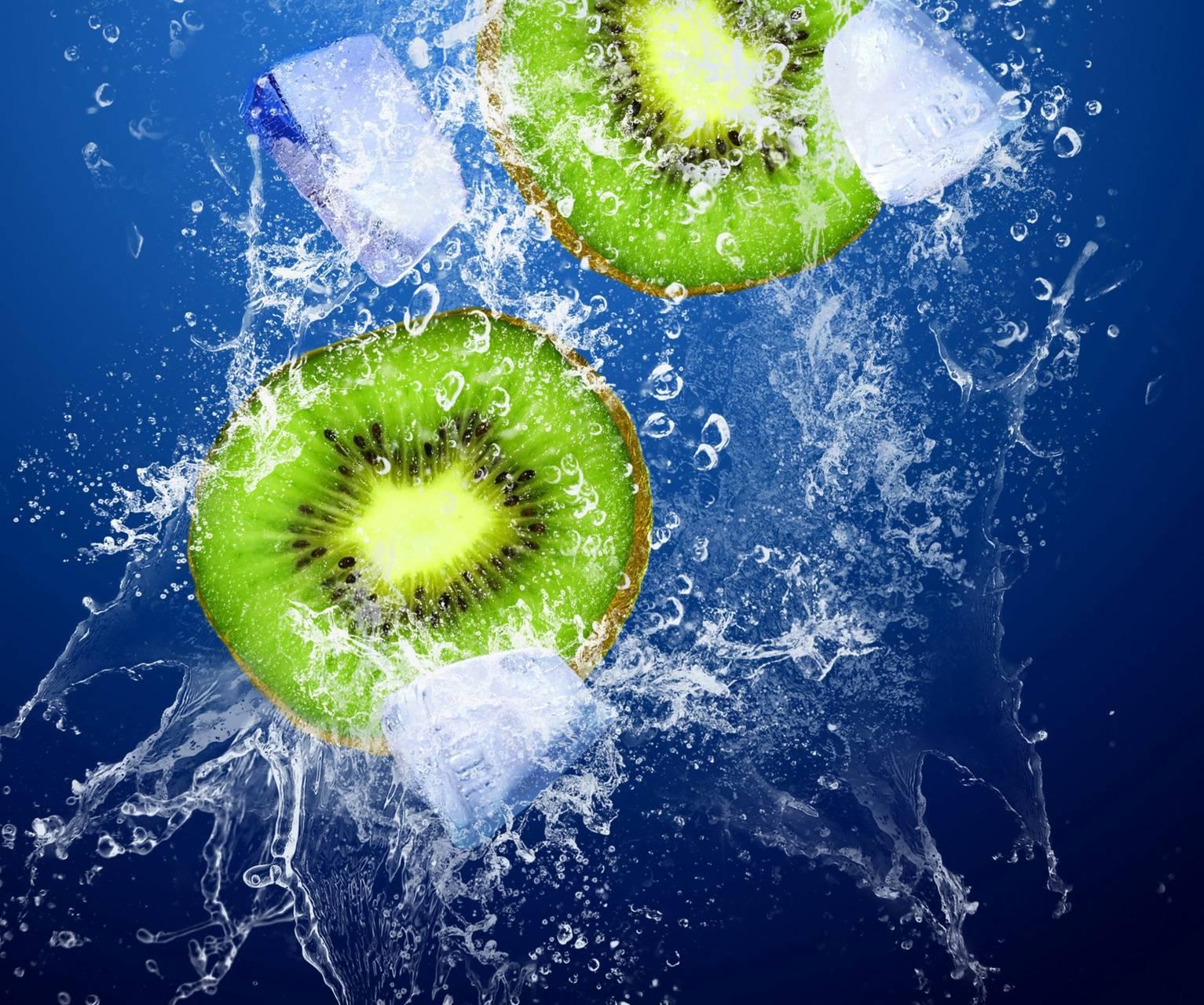 Kiwi and ice