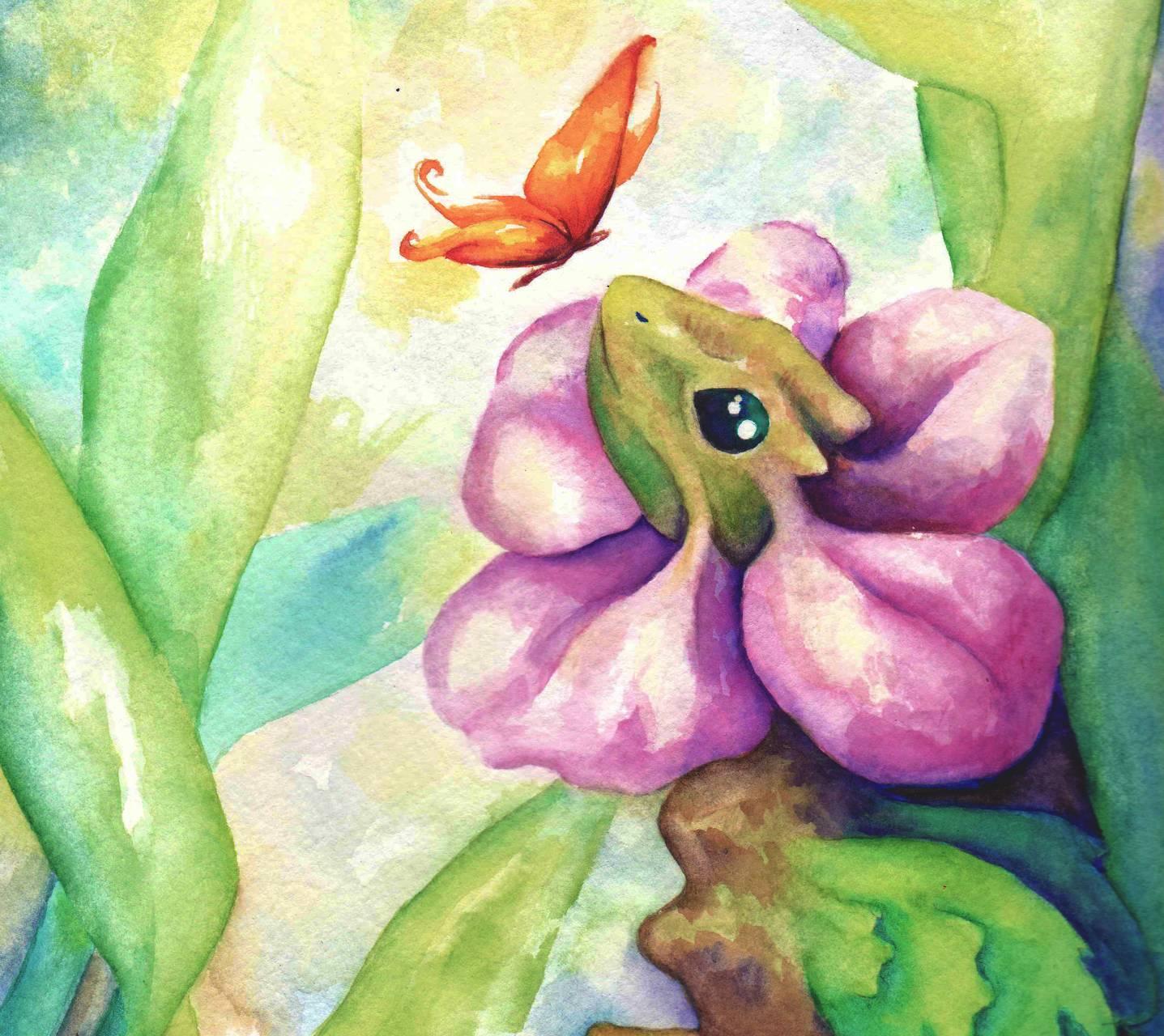 Lizard watercolor