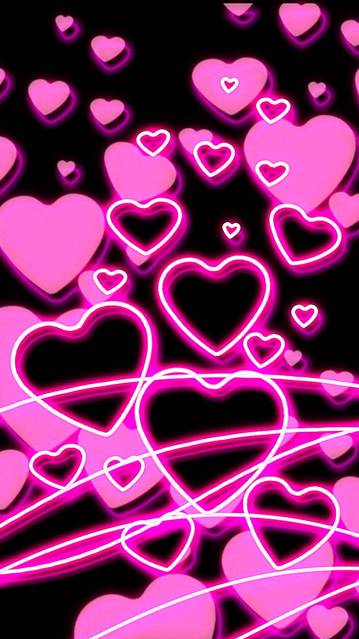 Neon Hearts Wallpaper By A123k 87 Free On Zedge