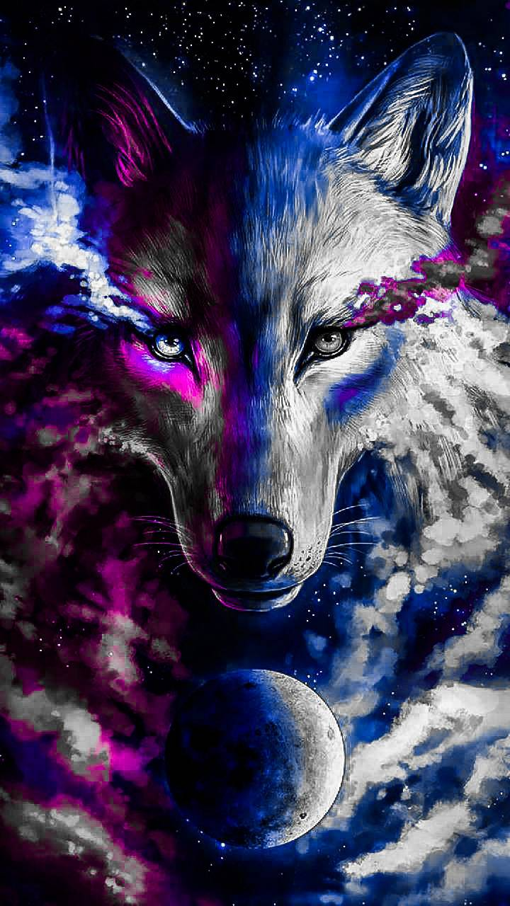 Cool colored wolf Wallpaper by WILDWOLF0524 - fb - Free on ...
