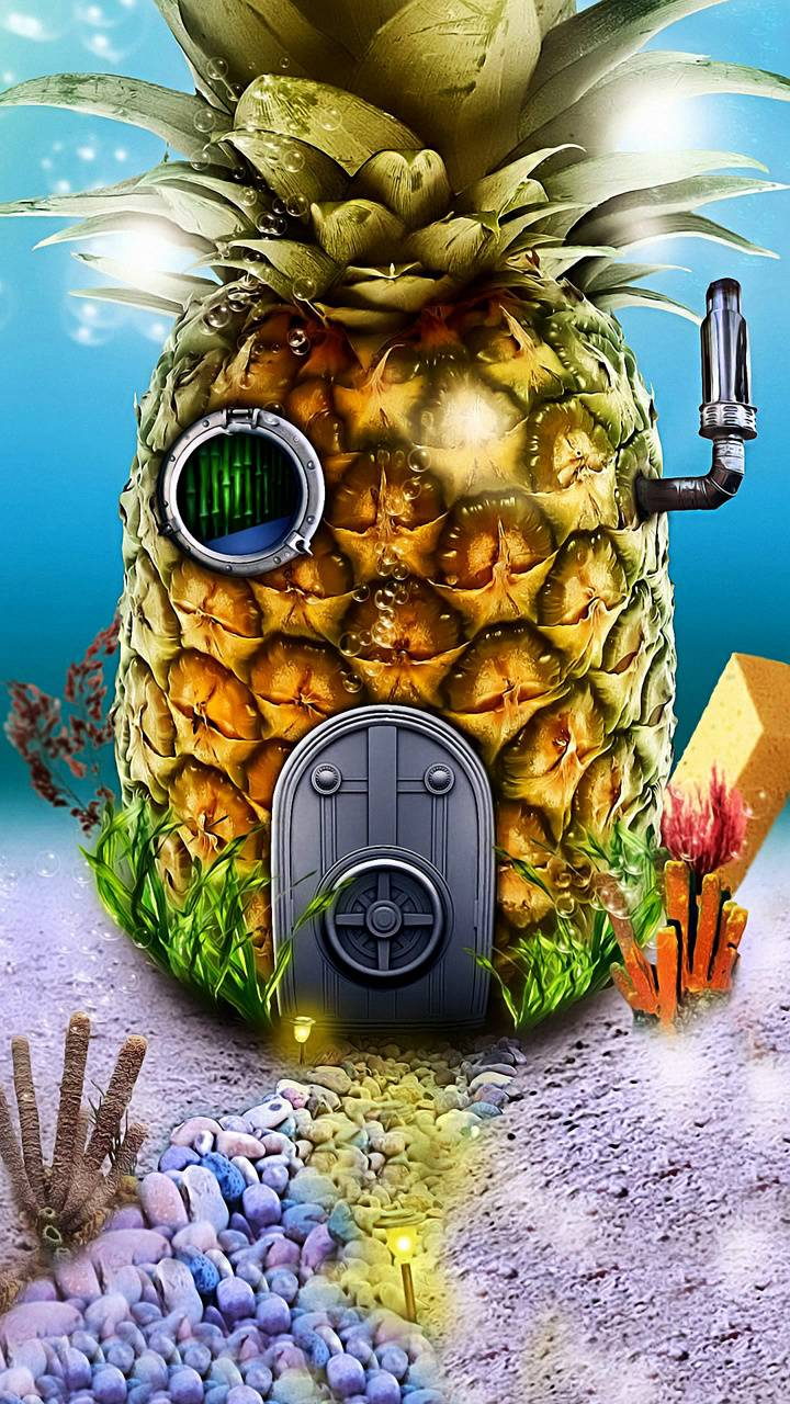 pineapple under sea
