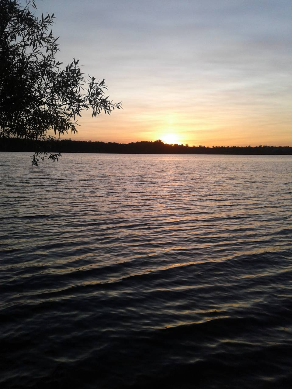 Sunset at water