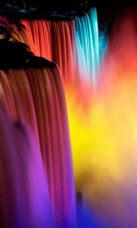 Rainbow Waterfall Wallpaper By Sonia 71 Free On Zedge