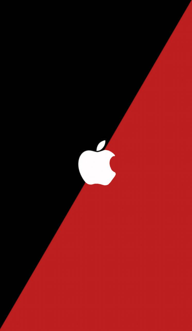 Black and red apple