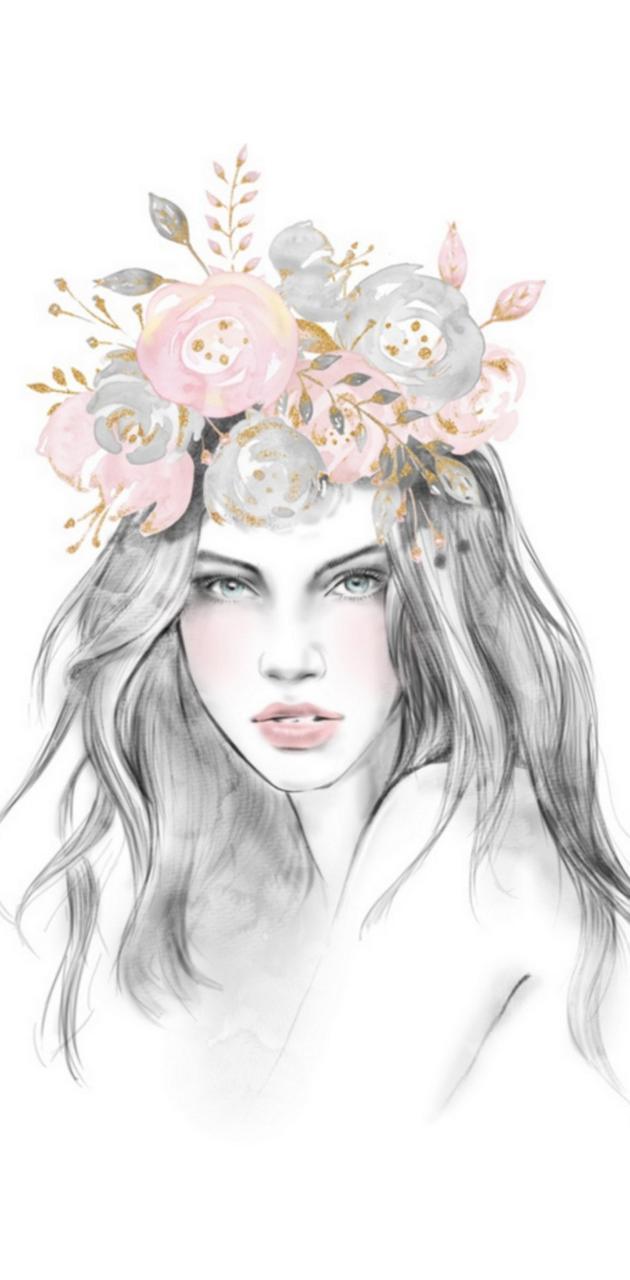 Sketched girl