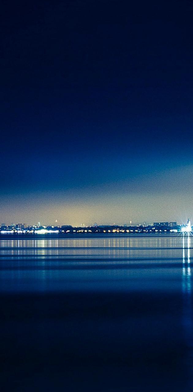 Blue Seaside Town