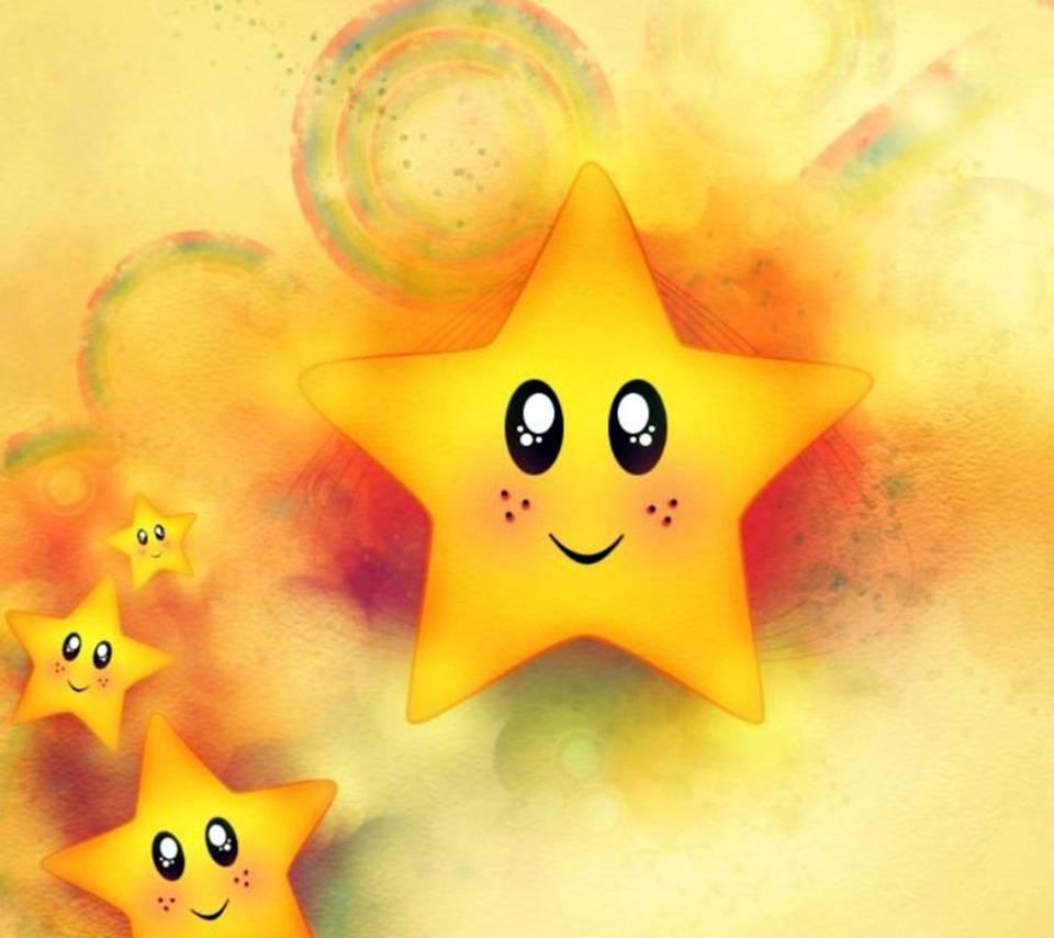 Картинка счастливой звездочки