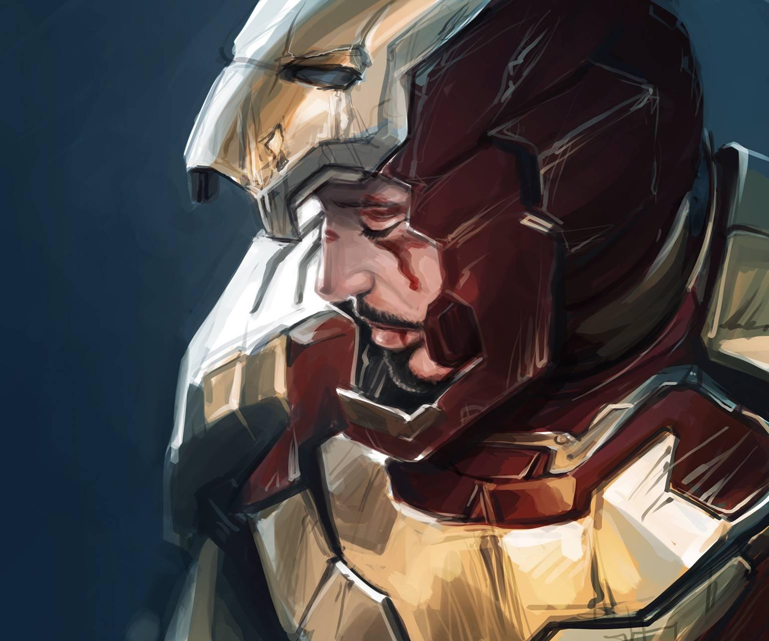 Iron Man Drawn