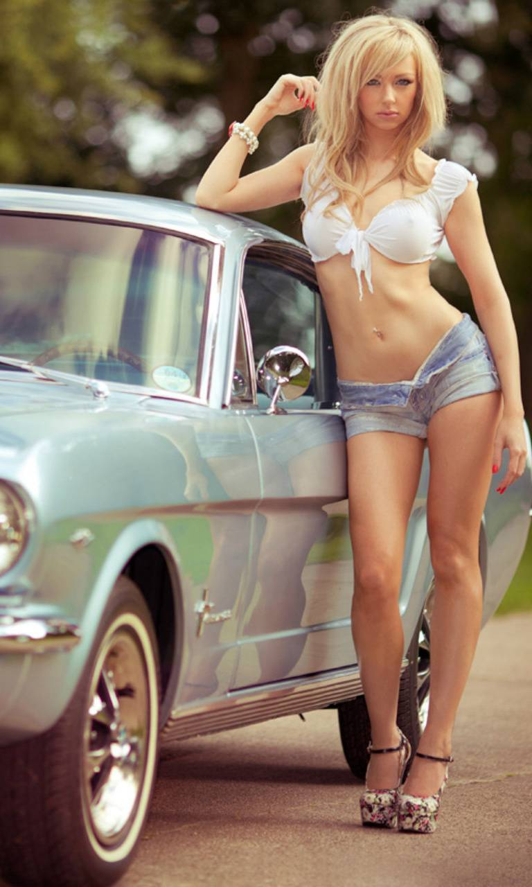 Blonde By Car