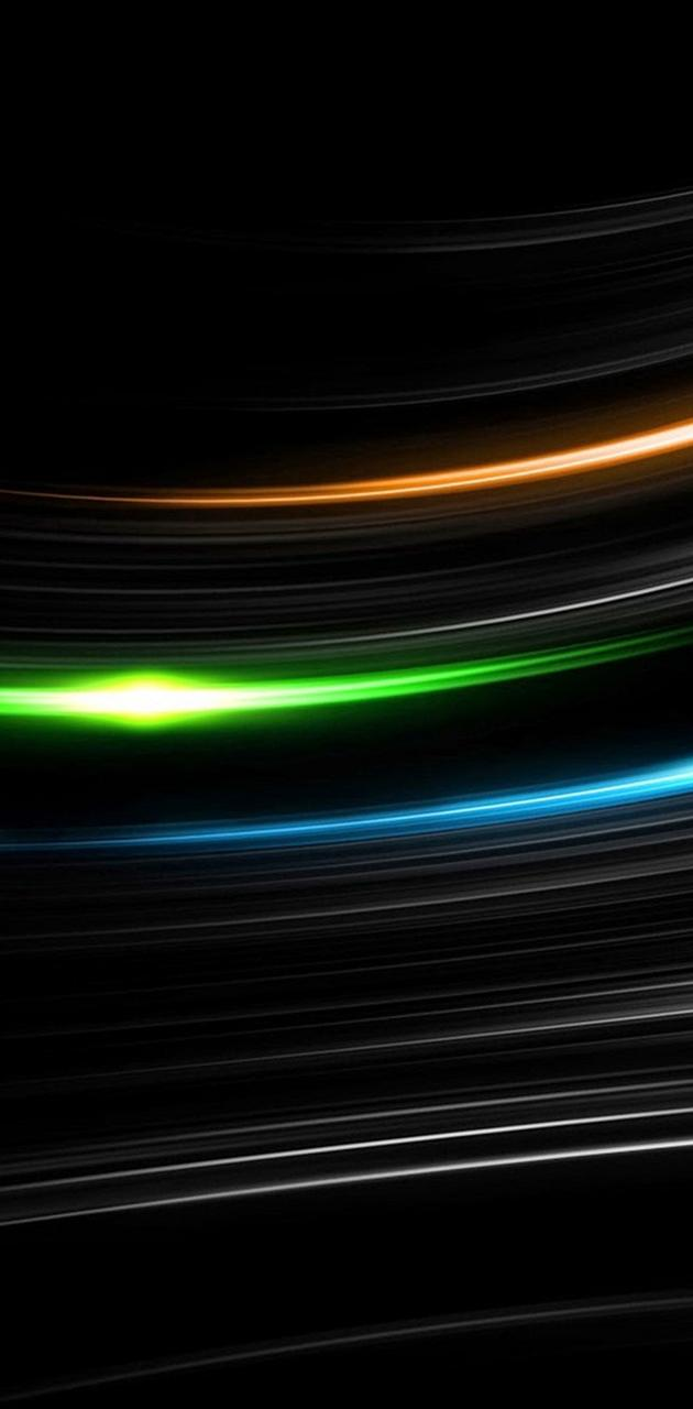 Abstract Neon Line