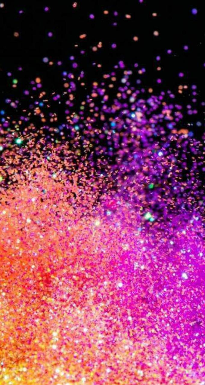 Glitter falling