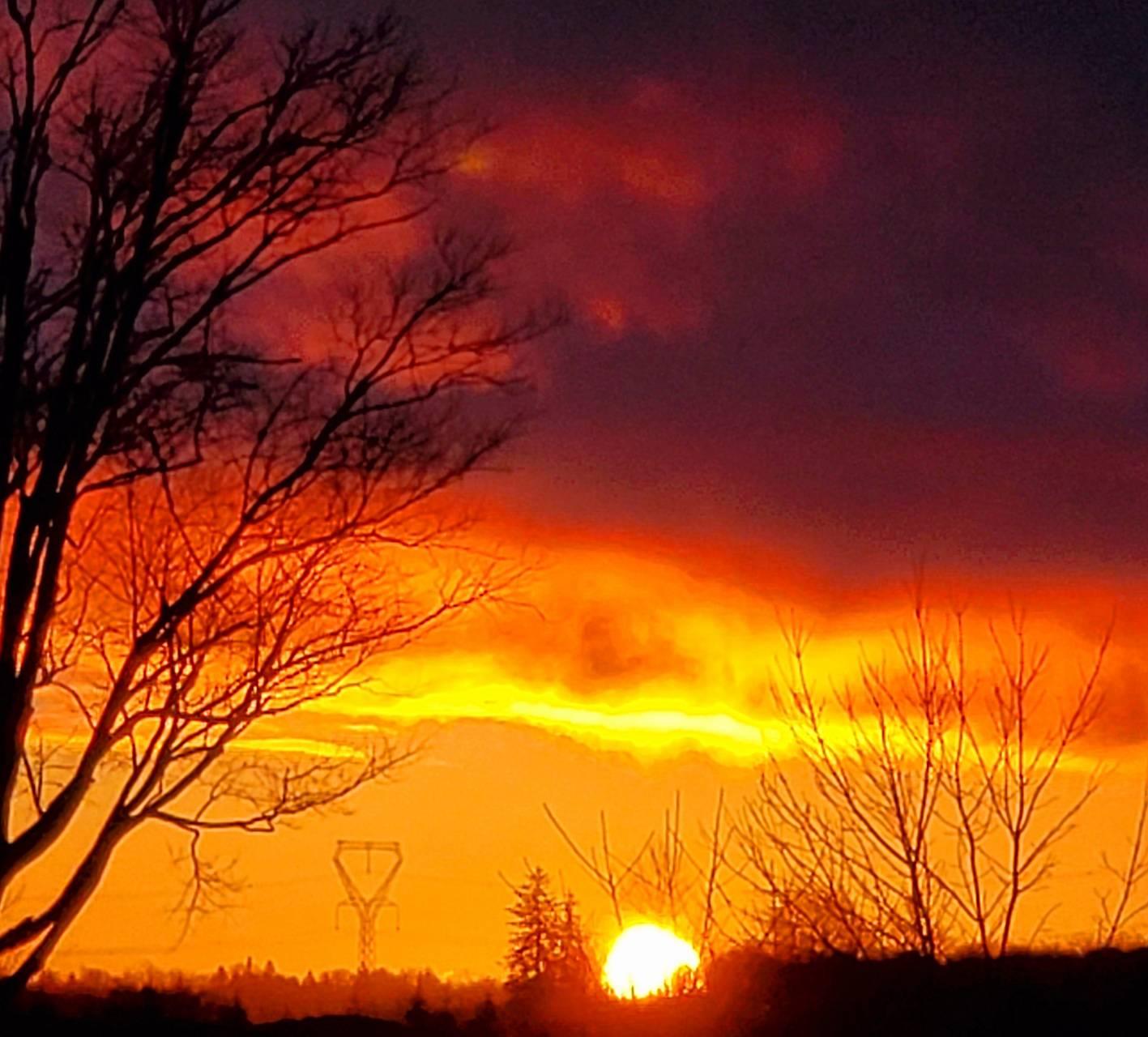 Sky on fire sunrise