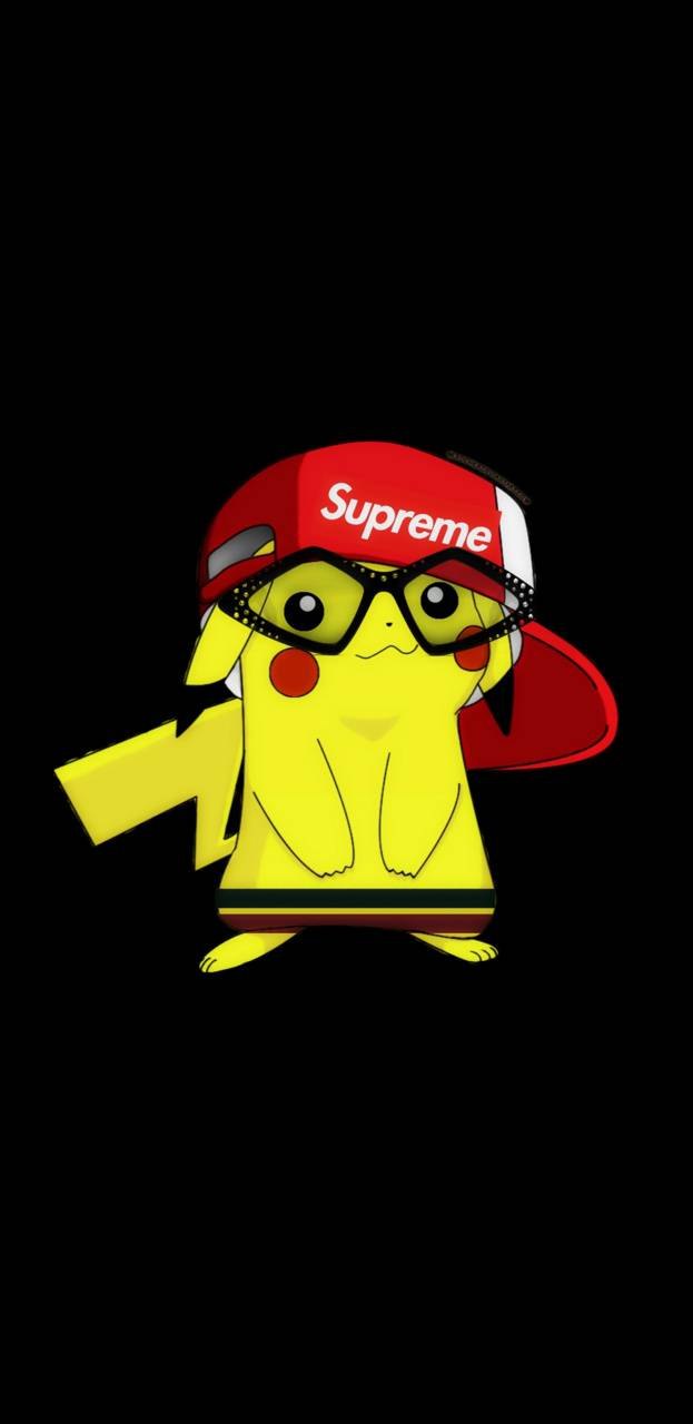Pikachu Supreme wallpaper by Sneks99