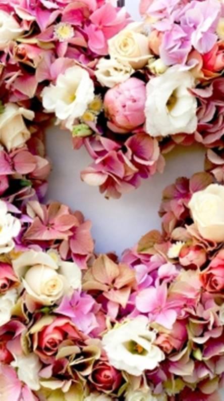 flowers heart