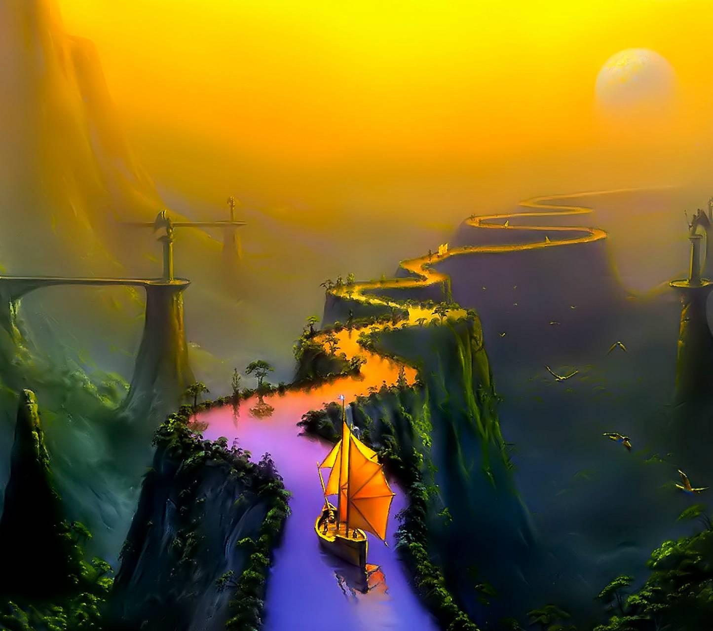 Fantasy Bridges Boat
