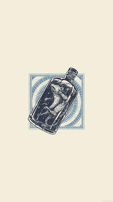 Rat in bottle