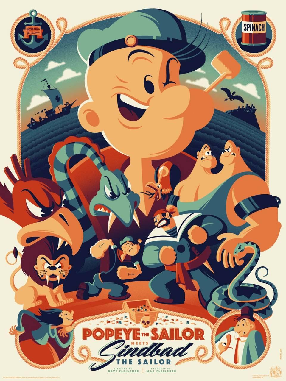 Popeye Poster Art