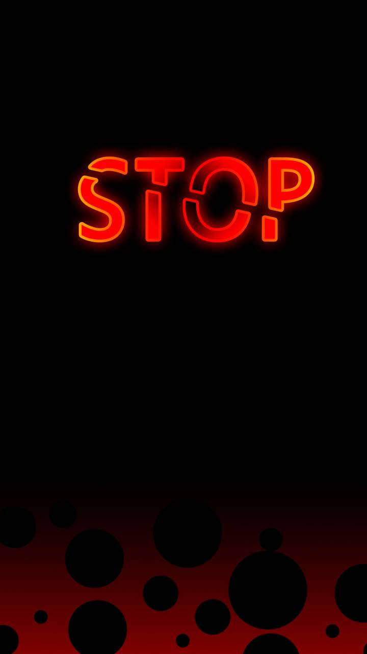 red stop word
