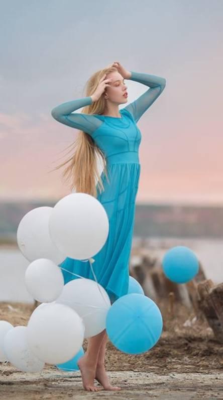 Woman Balloons