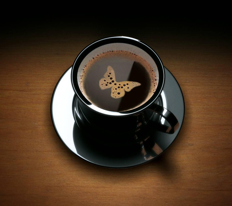 Butterfly coffee art