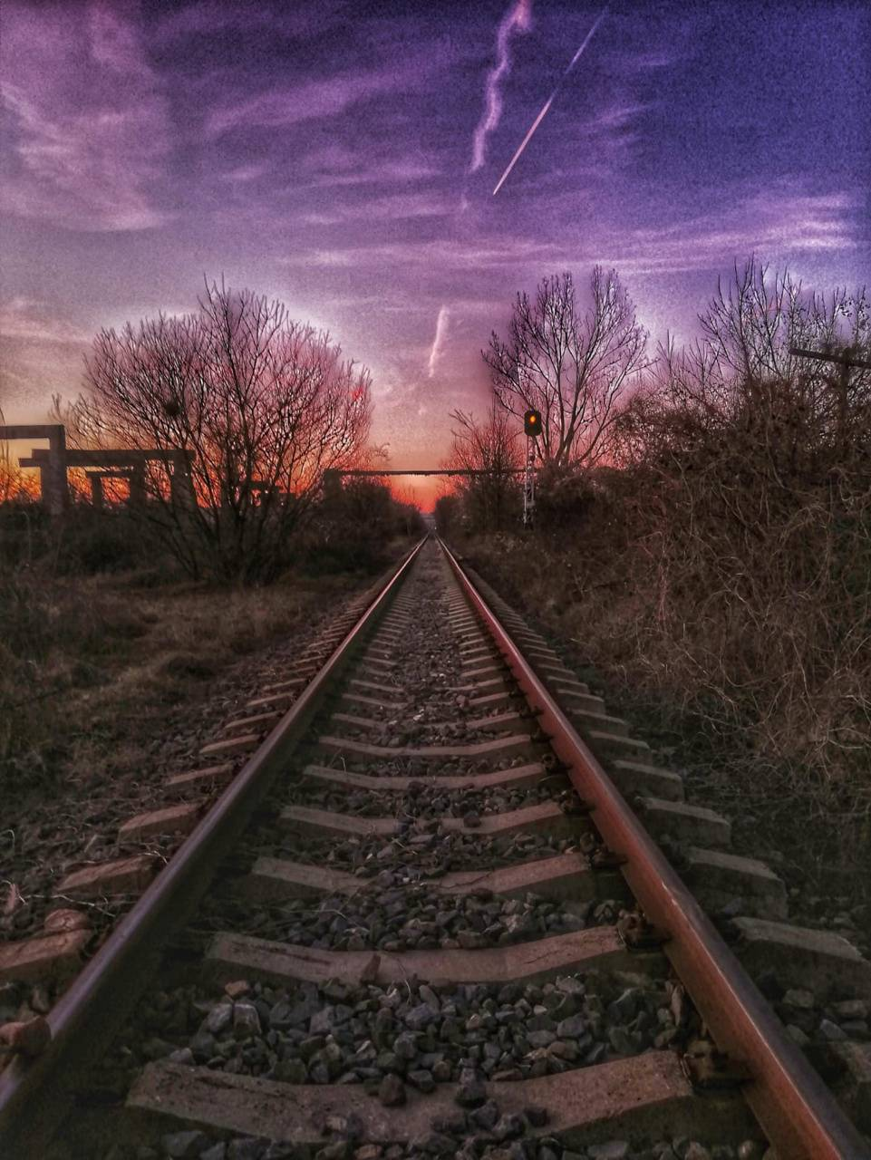Sky and Traintracks