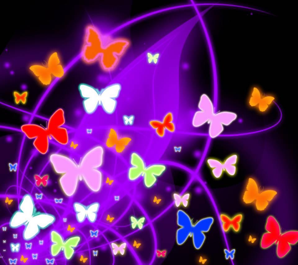 Butterflies In Neon