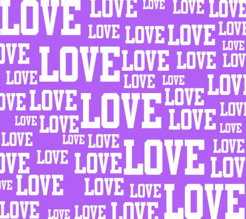 Purple Love Words