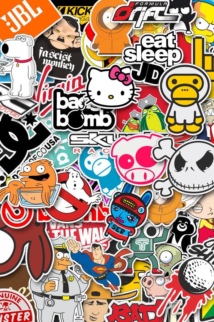Stickerbomb Wallpaper By Deepdeer