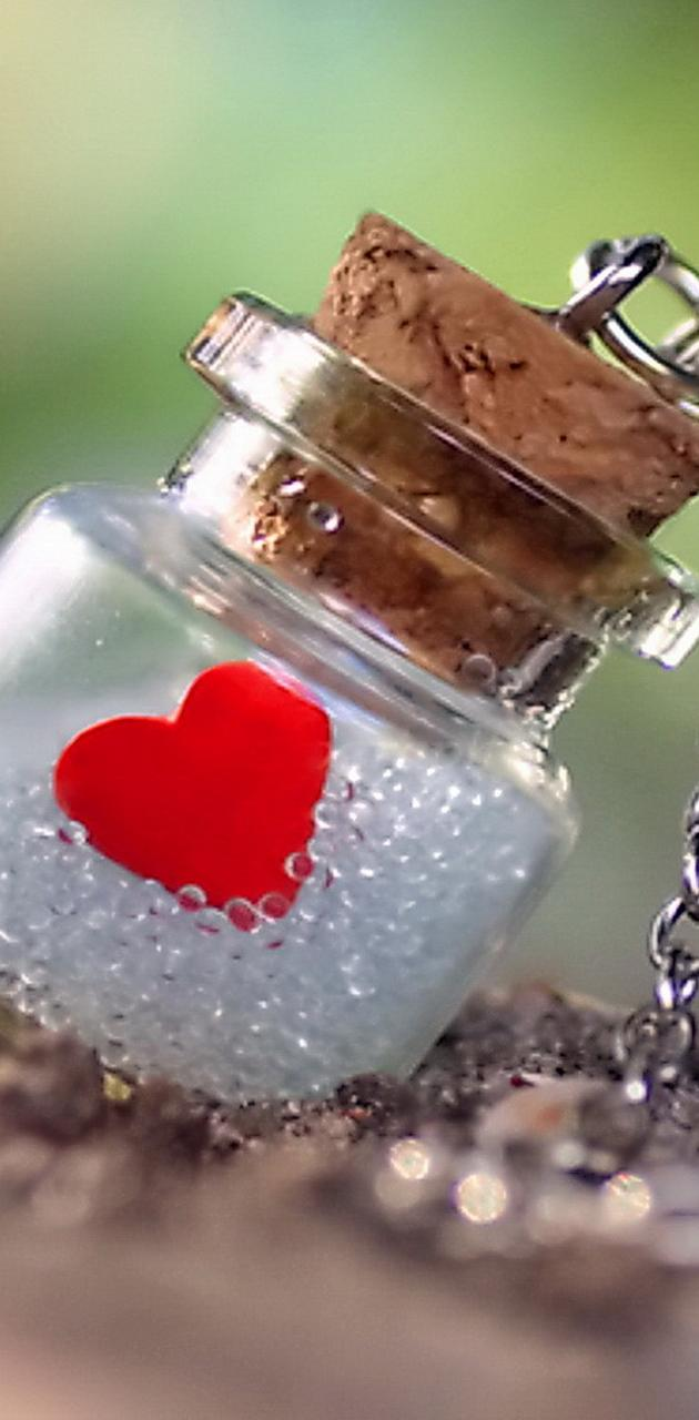 Heart In Bottle