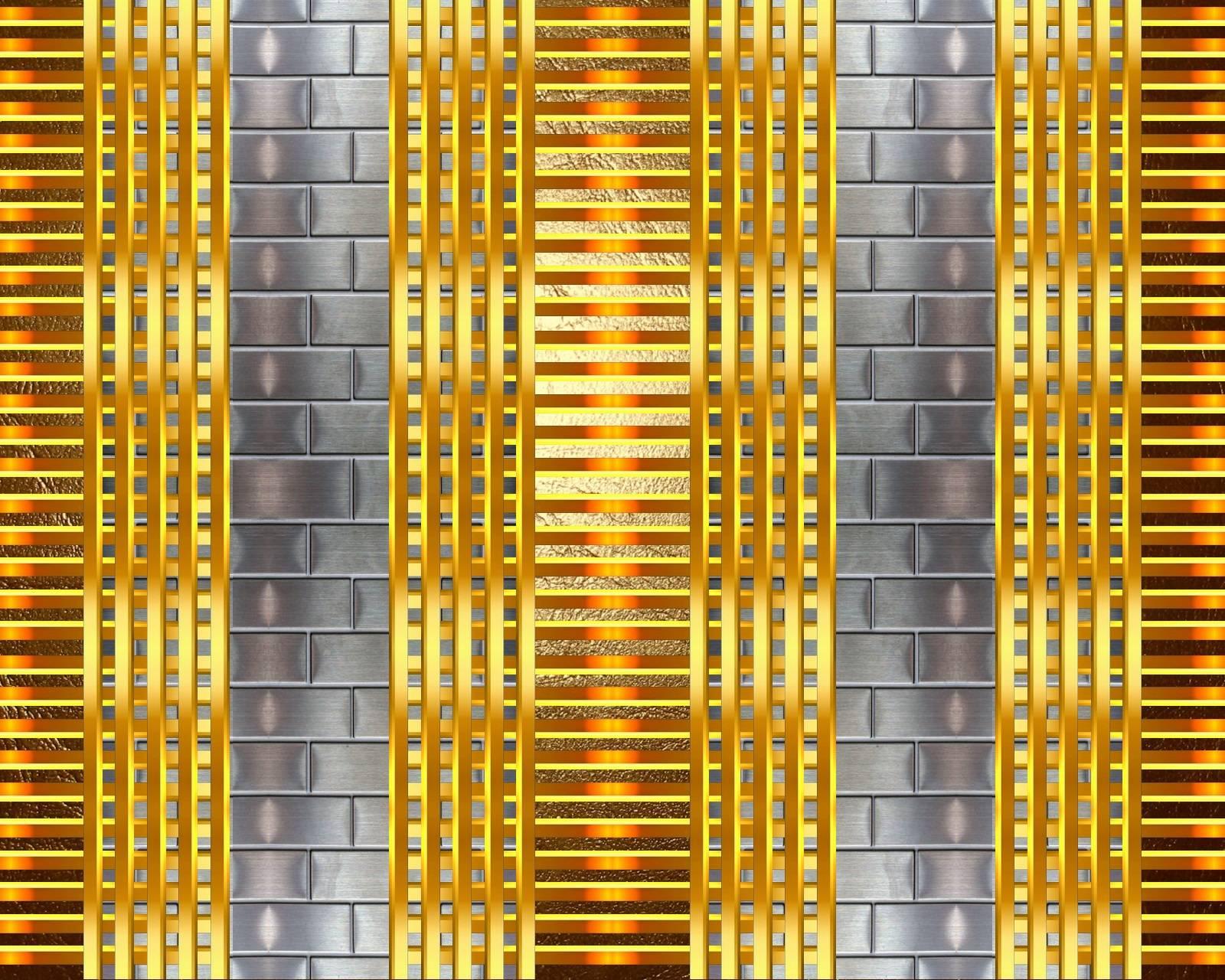Bricks and gold