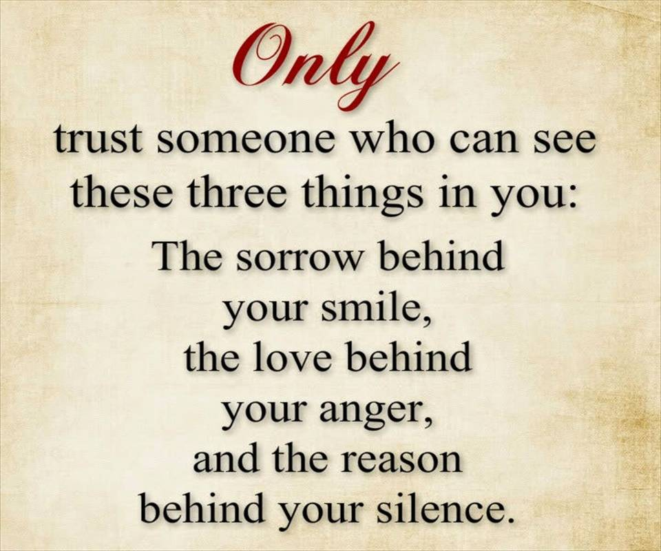Only Trust Someone
